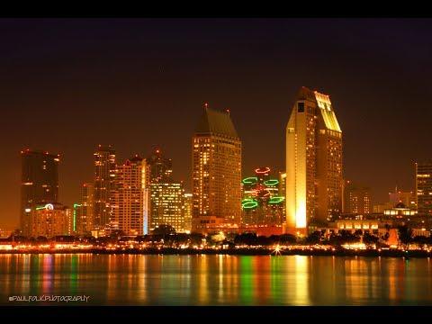 San Diego Downtown Skyline and Coronado Island Ferry Harbor GoPro Time Lapse