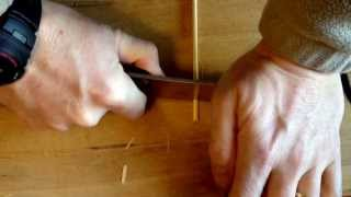 "Cutting 4mm Bamboo Skewers With Aeb-l 6"" Chef Knife"
