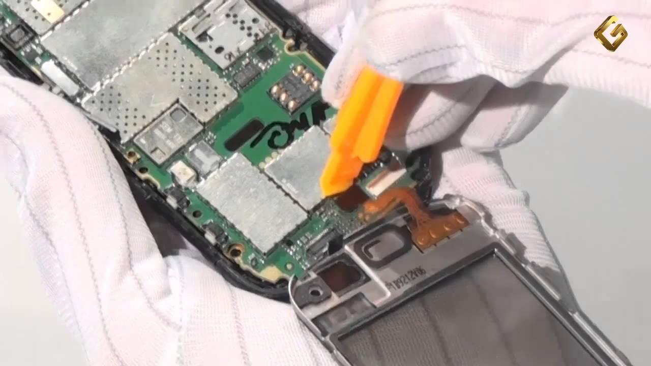 Nokia C3-01 тачскрин работает только когда на угол нажать - YouTube