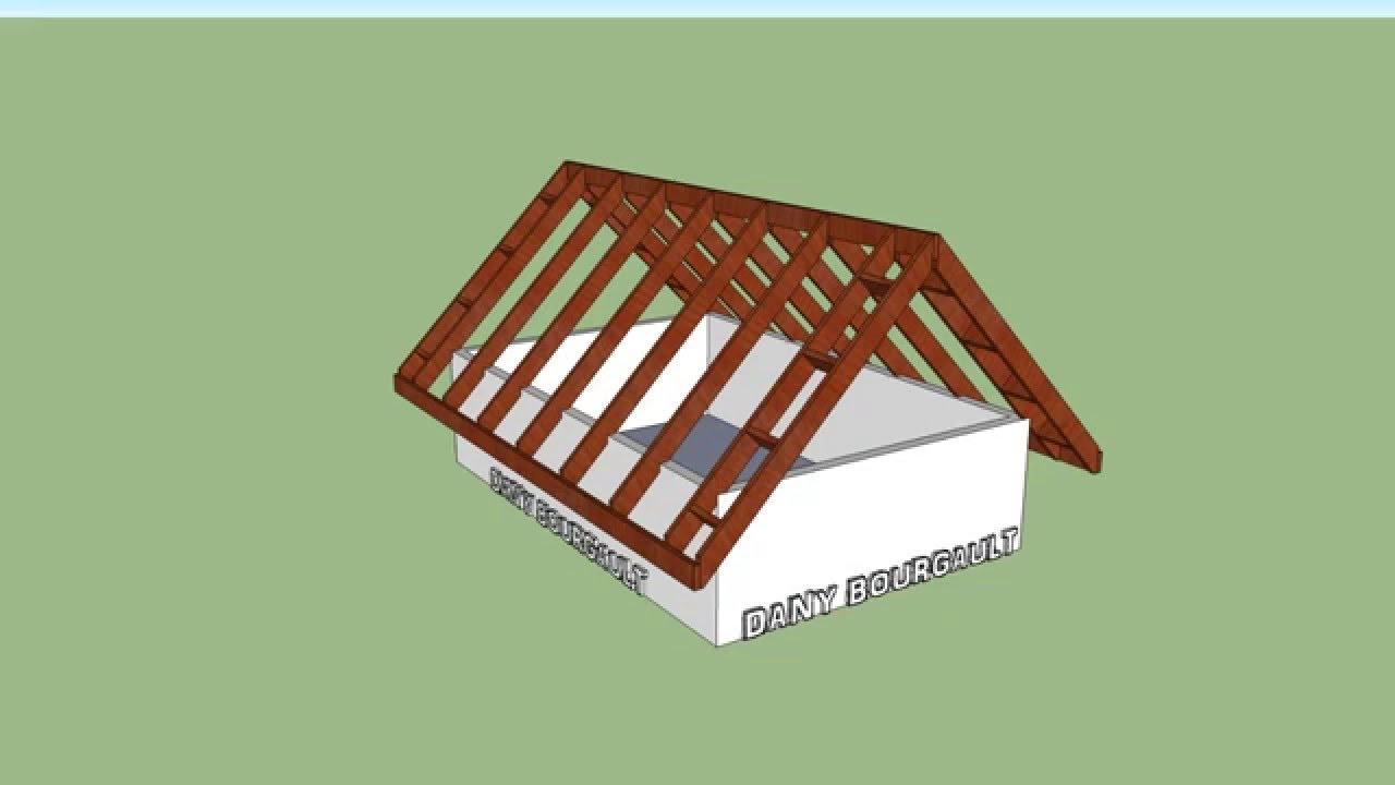 charpente de toiture long pan rafter structure youtube. Black Bedroom Furniture Sets. Home Design Ideas