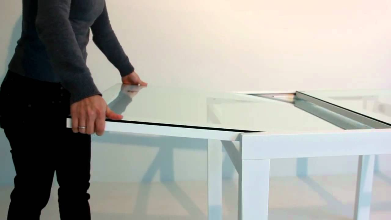 Tavolo in Cristallo Allungabile di Midj - YouTube