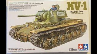 Tamiya new KV 1 Model 1941 early kit review /day 2 home vlog