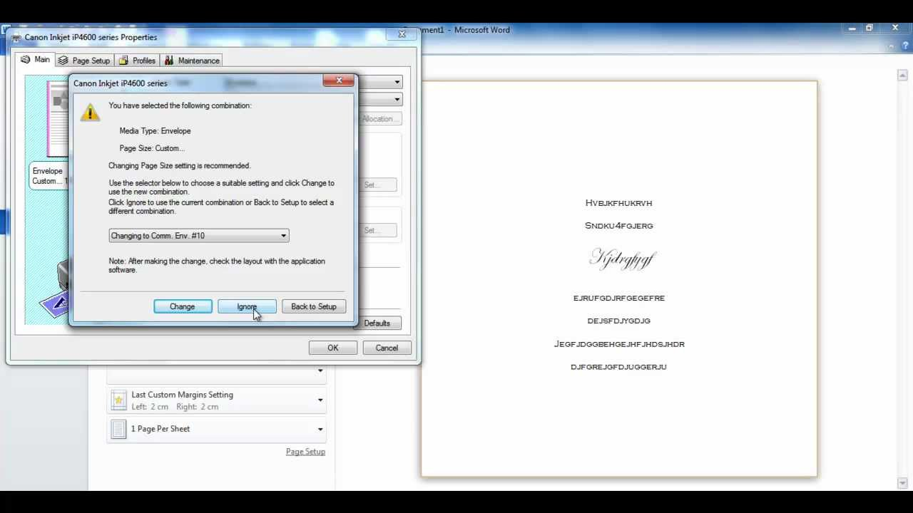 Custom Size Invitations using Word - YouTube