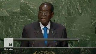 Zimbabwe President Robert Mugabe Shouts: