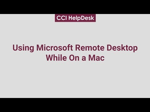Using Microsoft Remote Desktop On Mac