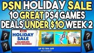 10 Cheap PS4 Games Under $10! - PSN Holiday Sale 2018 Week 2 Deals!