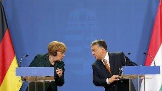 Nyilvánosan vitázott az illiberális demokráciáról Merkel és Orbán