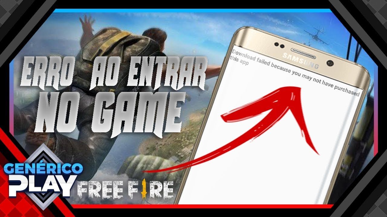 Free Fire - Download failed because you may not have purchased this app -  Resolvido!