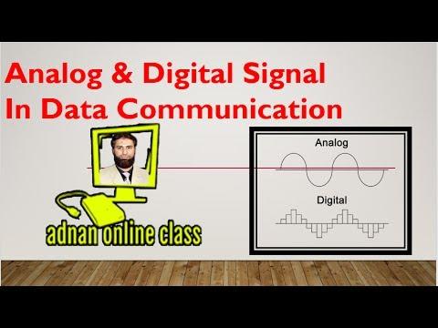 Analog & Digital Signal in Data Communication in urdu/hindi