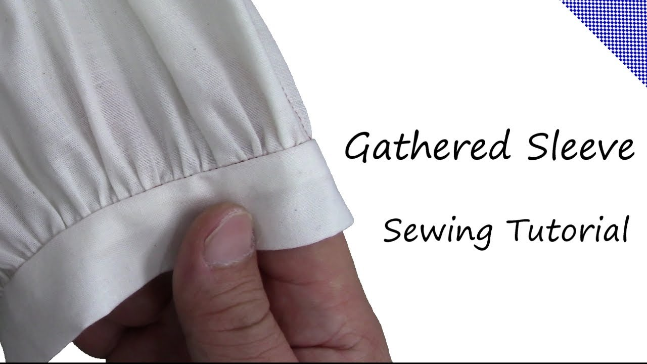 How to sew a Gathered Sleeve and Neckline