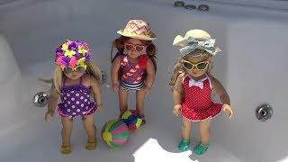 oyuncak bebekler için tatil Plaj seti Gerçek müzik çalar ve Şezlong Bidünya Oyuncak