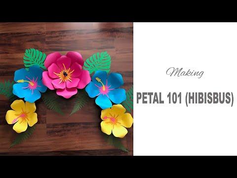 Petal 101 Hibiscus Paper Flower Templates