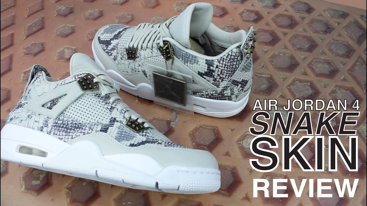 d4f1be340134 AIR JORDAN 4 PREMIUM SNAKESKIN REVIEW   UNBOXING - YouTube