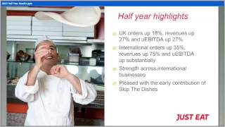 Just Eat H1 Results Presentation 27 07 2017   Recording