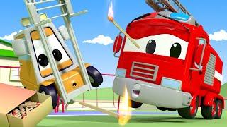 Patrula auto - Joaca cu focul - Orasul Masinilor Desene pentru copii