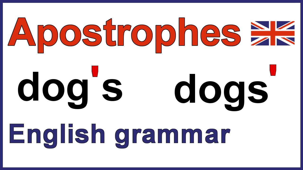 small resolution of How to use apostrophes   Using apostrophes   English punctuation - YouTube
