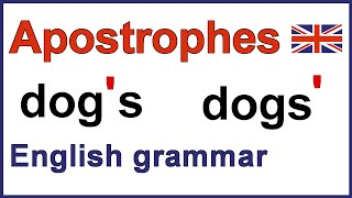 Repeat youtube video How to use apostrophes | Using apostrophes | English punctuation