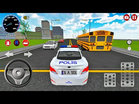 Real Police Car Driving Simulator 3D - Police Patrolling Busy Street #2 - Android Gameplay