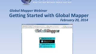 Getting Started with Global Mapper