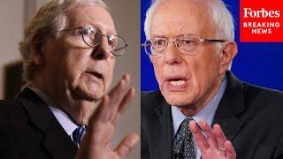 McConnell Calls Out Bernie Sanders On Senate Floor
