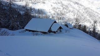 Leben auf der Alm im Winter
