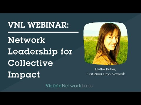 Webinar Network Leadership & Collective Impact  1 21 16
