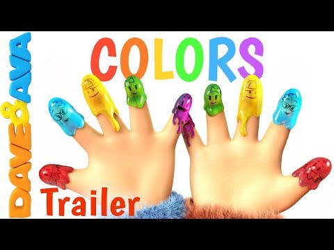 Thumbnail: 🌈 Finger Family Colors – Trailer | Learn Colors | Nursery Rhymes for Kids from Dave and Ava 🌈