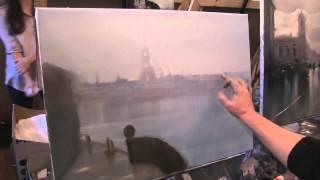Петропавловская крепость  Видео урок  Пишем картину маслом