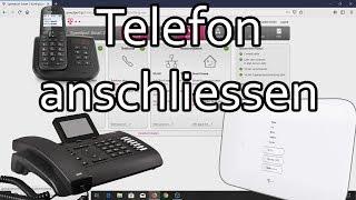 Telekom Speedport Telefon anschliessen und Rufnummern zuweisen