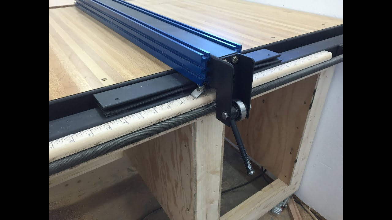 Charmant Table Saw Fence With Incremental Positioning   YouTube