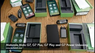 Motorola Moto G7, G7 Plus, G7 Play and G7 Power Unboxing