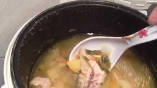 Быстро и просто куриный суп в мультиварке