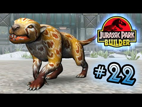 Jurassic Park Builder: GLACIER Tournament: Part 22 Marsupial Lion! HD