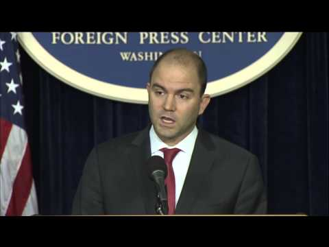 Deputy National Security Advisor Rhodes Gives an Overview of 2015 U.S. National Security Strategy