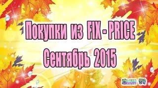 Покупки из FIX - PRICE / Сентябрь 2015