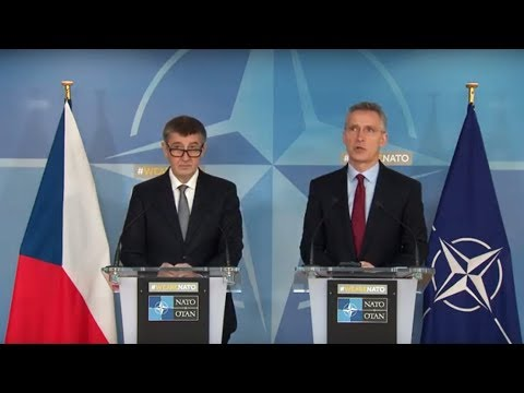NATO Secretary General with Czech Prime Minister Andrej Babis, 22 MAR 2018