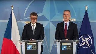 NATO Secretary General with Czech Prime Minister Andrej Babis, 22 MAR 2018