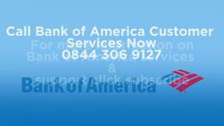Bank of America Phone Number 0844 306 9127