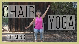 Chair Yoga Class for Back Care with Sherry Zak Morris, Certified Yoga Therapist | YWM 554