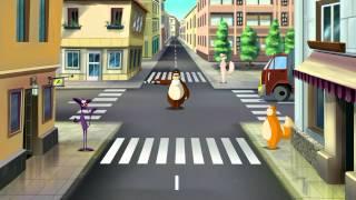 Азбука безопасности на дороге - Светофоры и перекрестки (Уроки тетушки Совы) серия 6