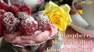 Mother's Day Raspberry Mousse Filled Chocolate Cups From Creative Cakes By Sharon