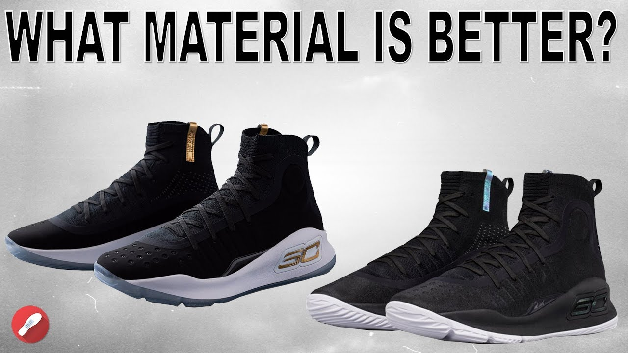 9e74c77e16e Under Armour Curry 4 Material Comparison! What s the Best Material ...