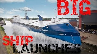 BIG SHIP LAUNCHES COMPILATION 2017 HD|BIGGEST BOAT LAUNCHES
