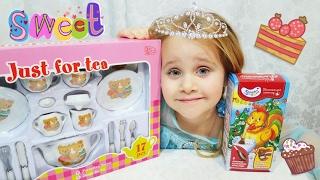 Чаепитие с Эльзой Frozen и Пинки Пай Шоколадная ложка Детская посуда Посуда для игрушек | Златуня(, 2017-02-08T09:42:35.000Z)