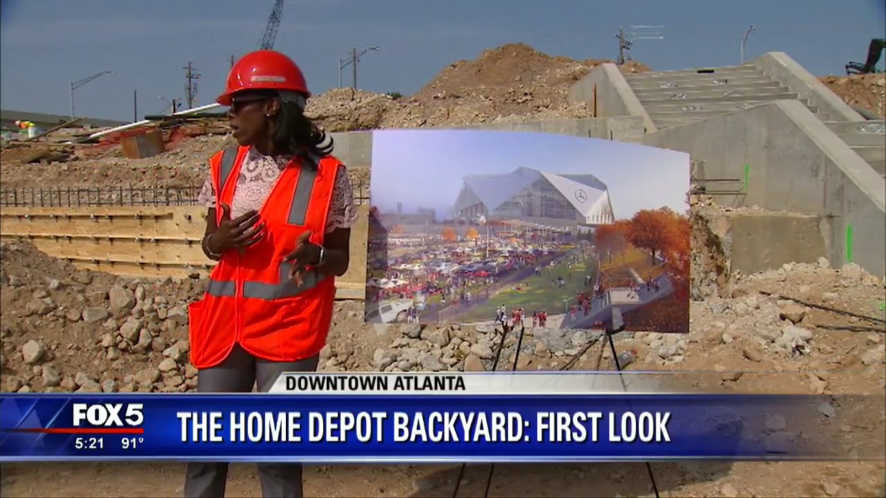 Home Depot Backyard At Mercedes Benz Stadium Youtube