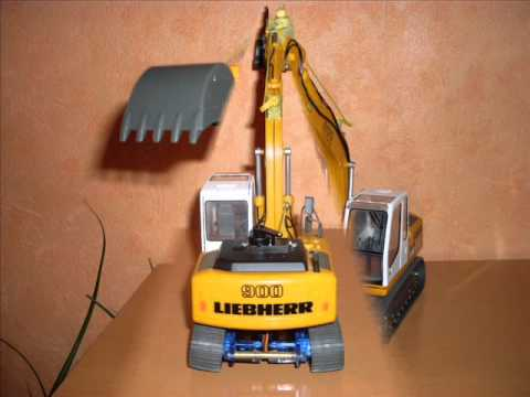 revell easykit bagger liebherr litronic l900 1 32 rc umbau auf rc teil 2 video. Black Bedroom Furniture Sets. Home Design Ideas