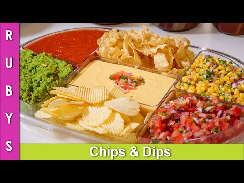 Salsa, Chips & Dips, Khatarnak Party Platter Recipe In Urdu Hindi   RKK Mov