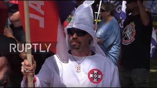USA: KKK stage rally in Charlottesville, attract hundreds of counter-protesters
