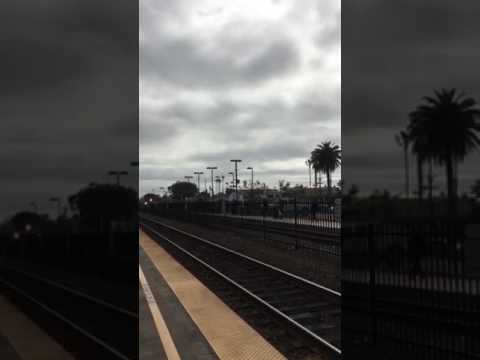 Amtrak #573 in Oceanside with 90208 and a polar express horizon coach!