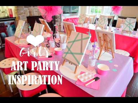 Kids BIRTHDAY PARTY Ideas!! (Girls Art Painting)